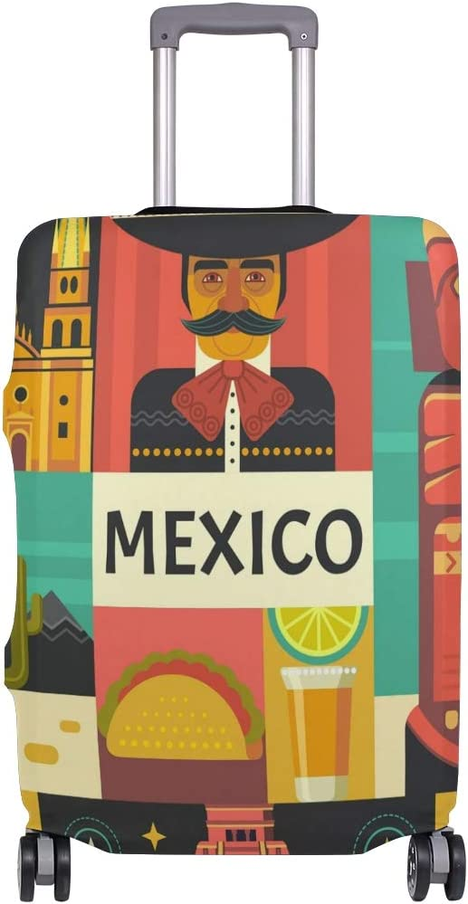 18//22//26//29 Inch Travel Suitcase Luggage Protective Cover with Mexico Style