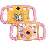 DROGRACE【進化版】キッズカメラ デュアルリアカメラ 自撮り可 2インチ 4倍ズーム 録画可 ピンク