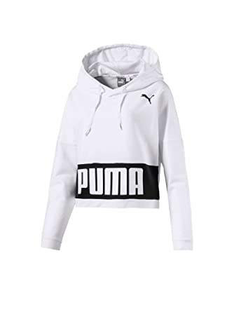 exclusive shoes half off wholesale dealer Puma 850024 Sweatshirt Frauen White S: Amazon.de: Bekleidung