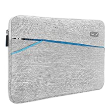 Lacdo 11-11.6 Inch Waterproof Fabric Sleeve Case Bag / Notebook Ultrabook Bag Case for Apple MacBook Air 11.6-inch / New Macbook 12 inch, Acer, Asu, Dell, HP, Chromebook, Gray
