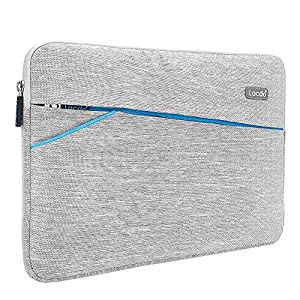 "Lacdo 13-13.3 Inch Waterproof Laptop Sleeve Case for Apple MacBook Pro 13.3-inch Retina/MacBook Air 13""/iPad Pro/Surface Book/ASUS ZenBook/Dell HP Chromebook Notebook Bag Carrying Case, Gray"