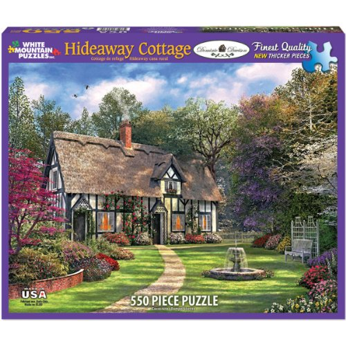 White Mountain Puzzles Hideaway Cottage - 550 Piece Jigsaw Puzzle