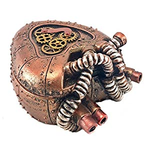 Bellaa 20980 Heart Box Mechanical Steampunk Industrial 4 Inch