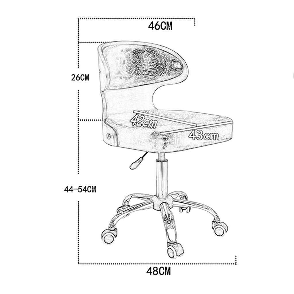 Kontorsstol, vintage retro matstil stol kök kontorsstol lounge stol med ryggstöd med hjul (färg: C) c