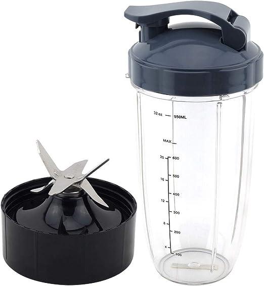 Felji 32 oz taza de colosal con tapa abatible + cuchilla ...