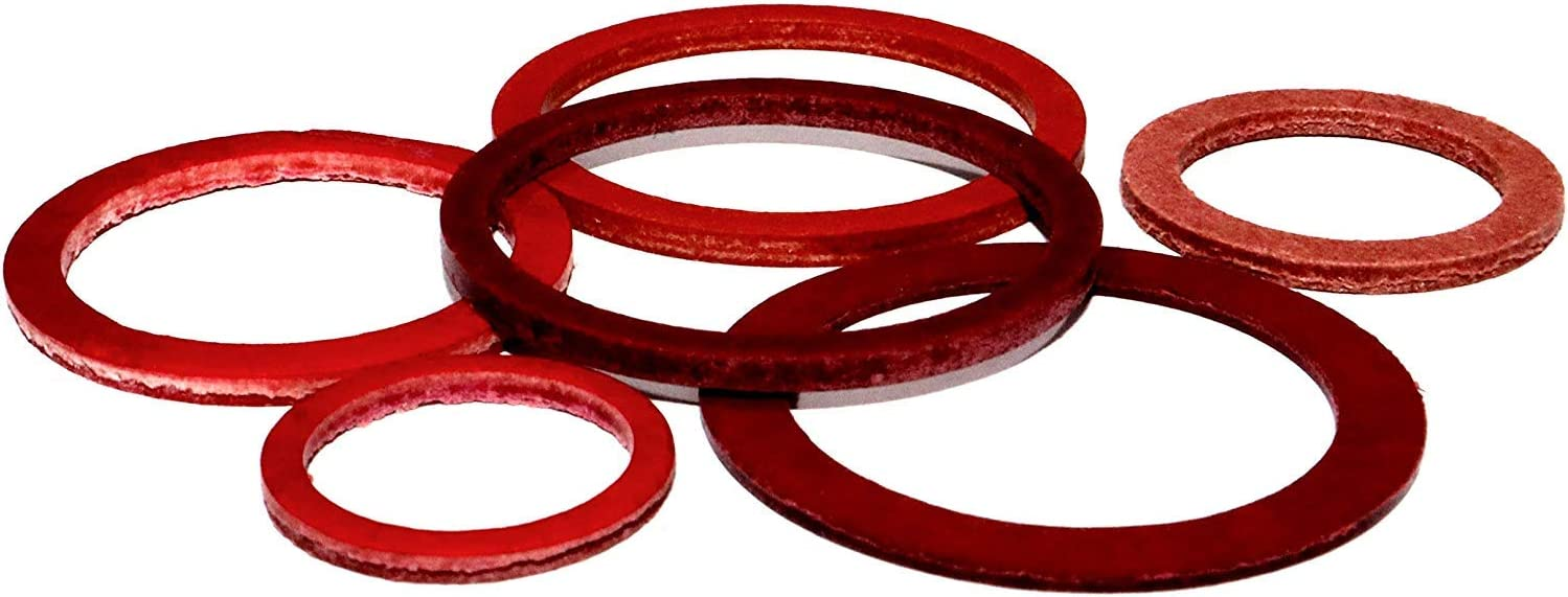 Dichtringe 15x20x1,5 DIN 7603 A Vulkanfiber 5 St/ück Dichtung Vulkandichtung Dichtungsring Vulkanfiberring Faserdichtung