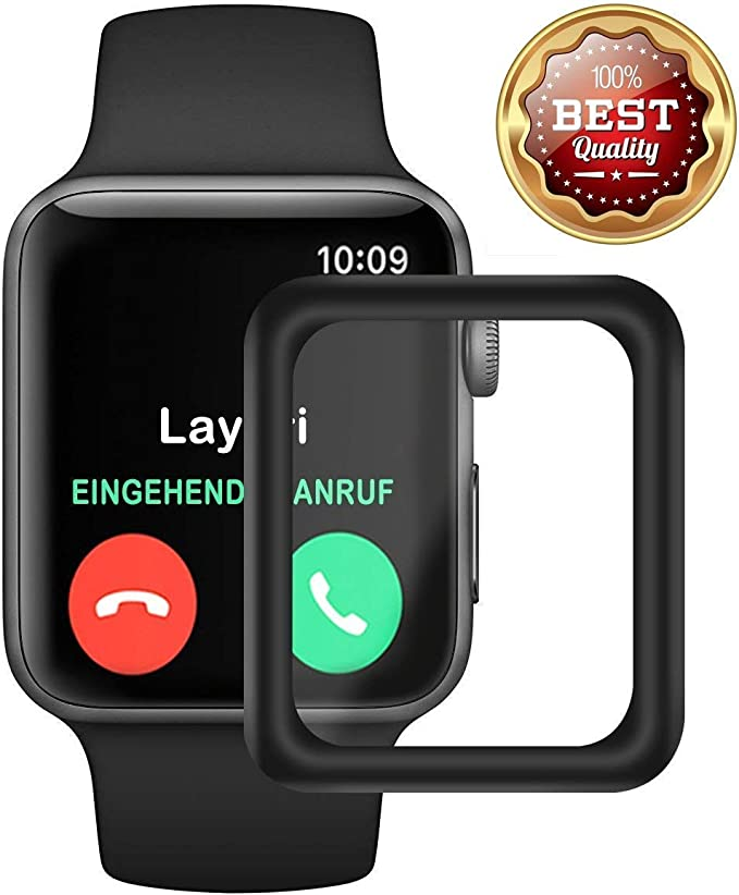Protective Film for Apple Watch 38mm/42mm Waterproof Bulletproof Glass 3D Full Cover with Sport Edition Nike +