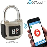 eGeeTouch Smart Padlock 2nd Gen UPGRADED with Patented DUAL Bluetooth + NFC Technologies for Smartphones & Watch (Silver)