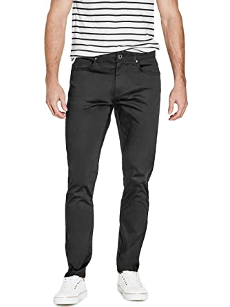 09c594303f4 GUESS Factory Men's Teddy Slim Straight Pants at Amazon Men's Clothing  store: