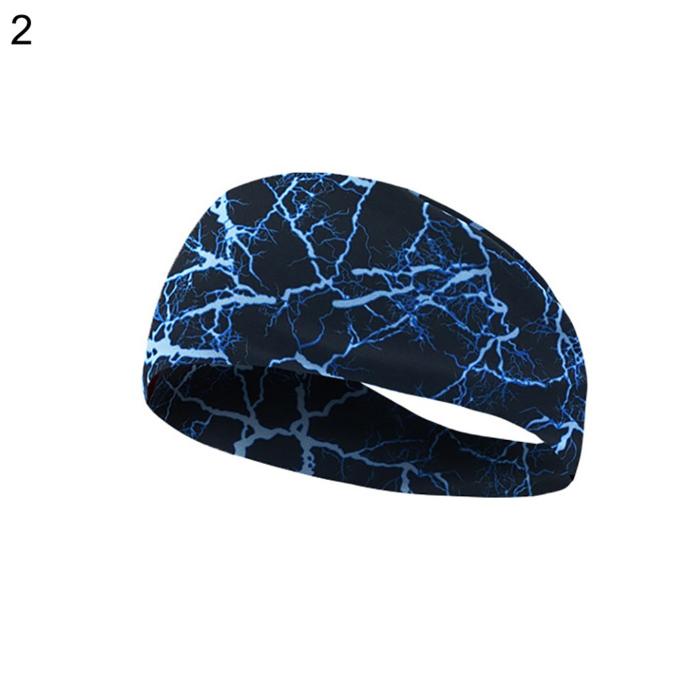 angel3292 Fashion Graffiti Lighting Elastic Absorbent Hairband Yoga Jogging Gym Headwear