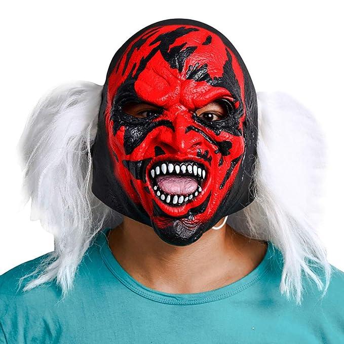 Máscara De Halloween Máscara De Bruja De Terror De Látex,Red,Onesize: Amazon.es: Ropa y accesorios