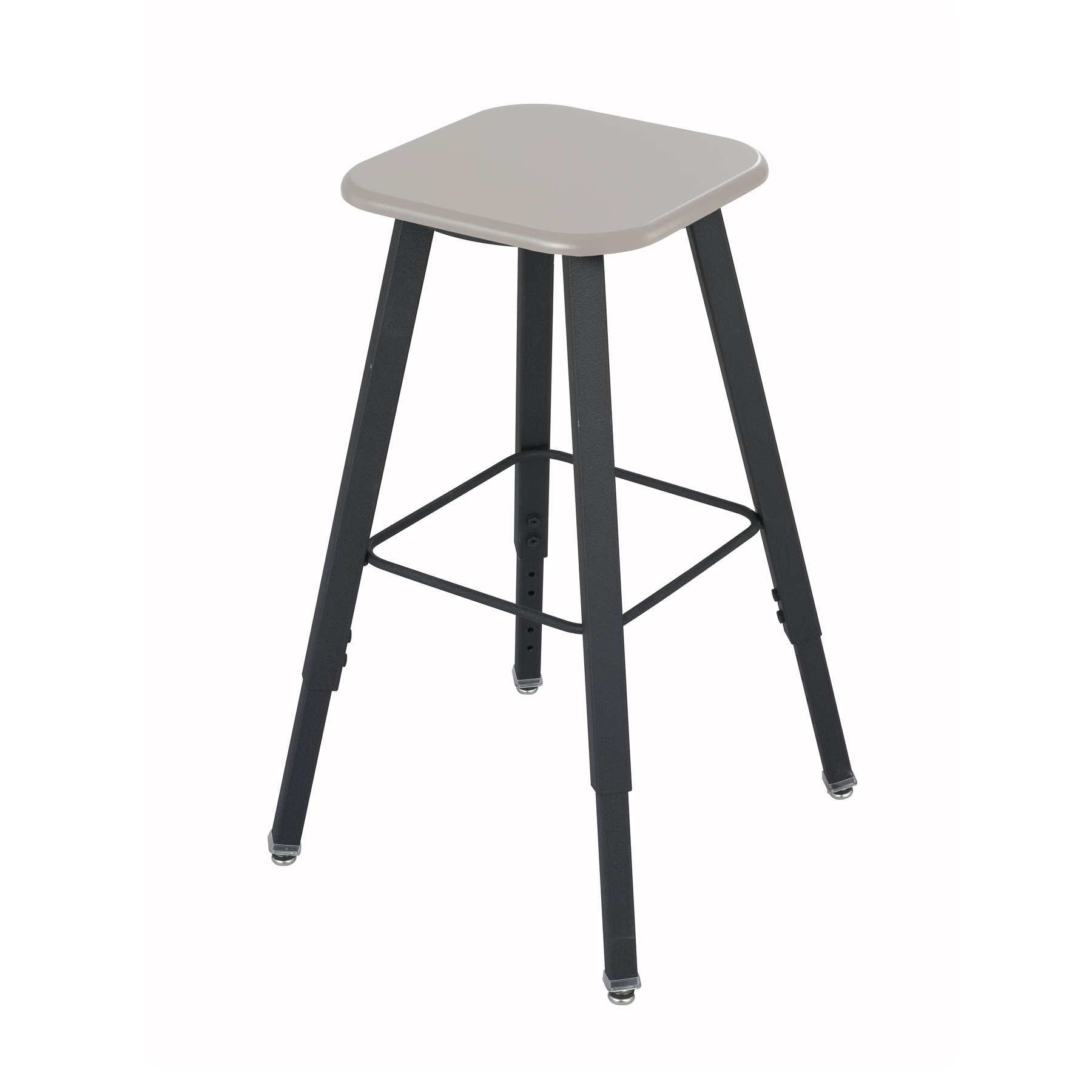 Safco Products 1205BE Alphabetter Stool for Alphabetter Stand-Up Desk (sold separately), Black Frame/Beige Seat