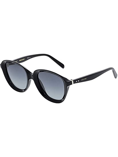 d9f34033c792 Celine Women s CL41448S-807-51 Black Oval Sunglasses  Celine  Amazon.ca   Watches