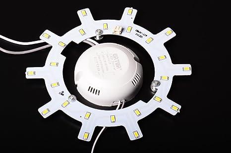 Aftertech led circulaire w v étoile rond blanc neutre neon