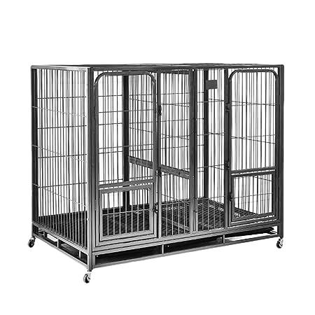 LTLJX Jaulas para Perros, Jaula de Transporte para Cachorros para ...
