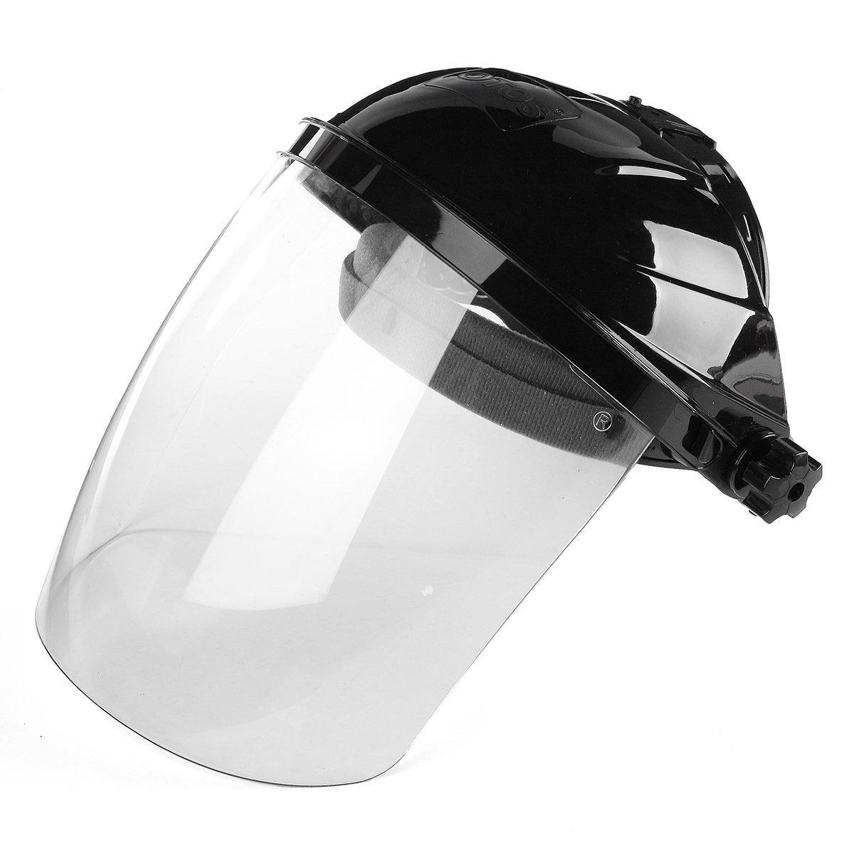KUNSE Lentille Transparente Anti-UV Anti-Chocs De Soudage Casque Visage Bouclier De Soudure Masque