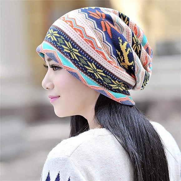 4e6d6260 3 Pcs Slouchy Beanie for Women Girls Soft Lightweight Chemo Cap Headwear  Sleep Hats Infinity Scarf