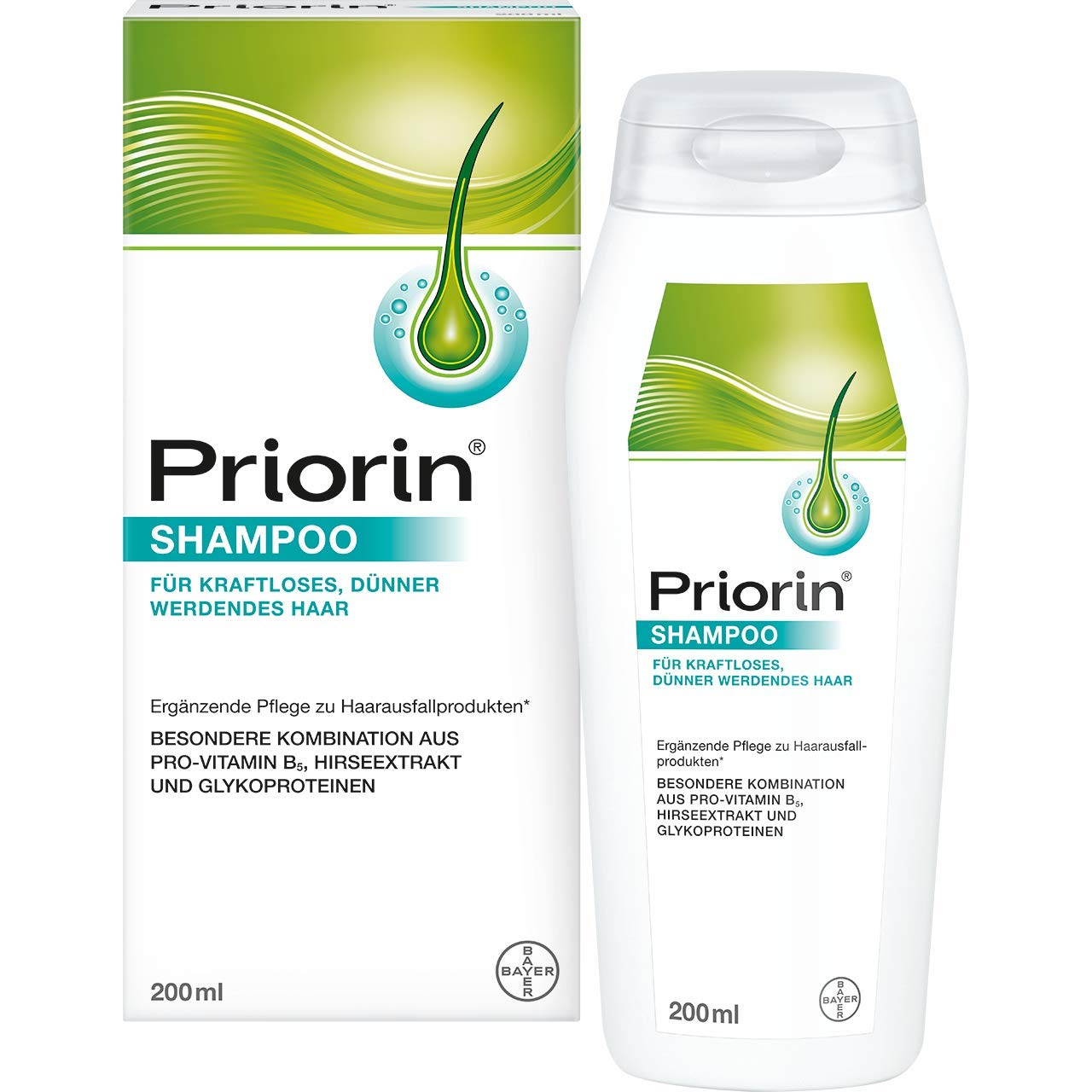 Bayer Priorin Shampoo Shampoo for Hair Loss Dry and Normal Hair 200ml/6.8oz