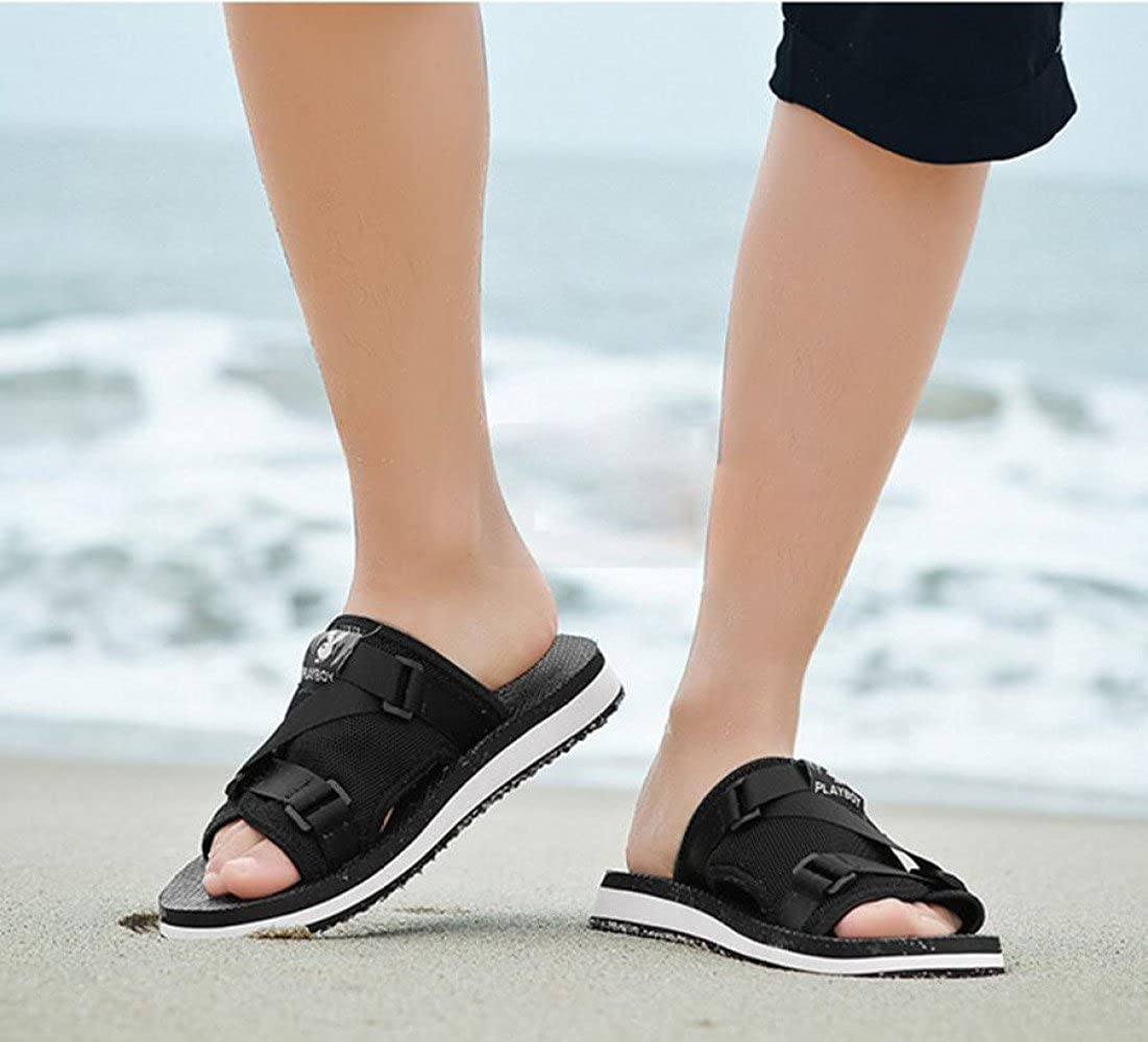 CHENGXIAOXUAN Herren Hausschuhe Sommerkleidung Rutschfeste Flip Flops Atmungsaktive Bequeme Strandschuhe Lässige Sandalen Netzgewebe Bequeme Atmungsaktive Sandalen schwarz d621c0