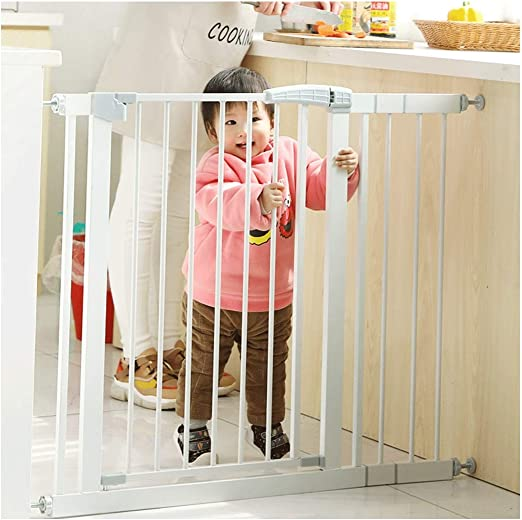 Barreras de puerta Niños Escalera Barandilla Puerta De Seguridad Bebé Escalera Hierro Forjado Resistente A Los Golpes Barandilla Para Mascotas Cerca De Perro Cerca De Aislamiento Puerta: Amazon.es: Hogar