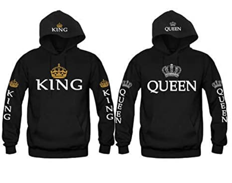 2eb39a91d3 King & Queen Matching Couple Hoodie Set His & Hers Hoodies (US XS/Tag