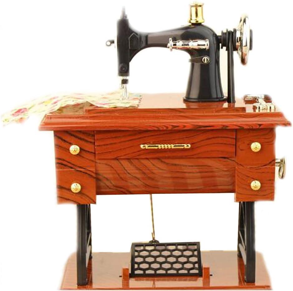 EULAGPRE 1x Máquina de Coser Retro Caja de Música Coleccionistas ...