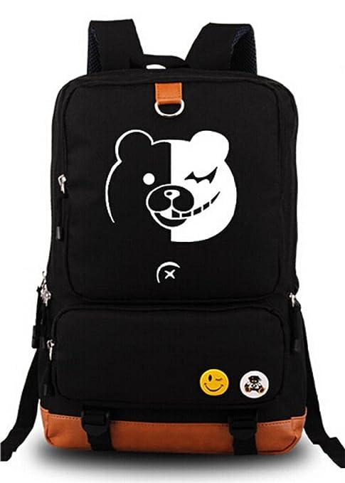 d060b9d13b Siawasey Danganronpa Anime Cartoon Canvas Backpack Shoulder School Bag