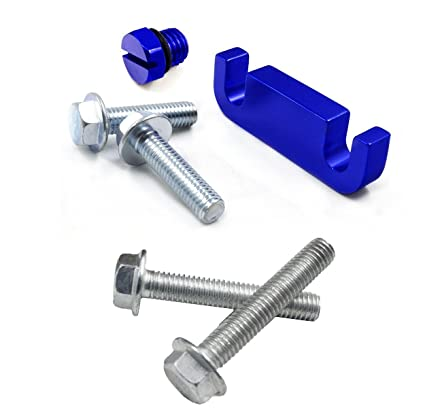 amazon com: ifjf fuel filter head housing spacer, air bleeder screw and  4pcs bolts -for duramax 2001-2017 (blue): automotive