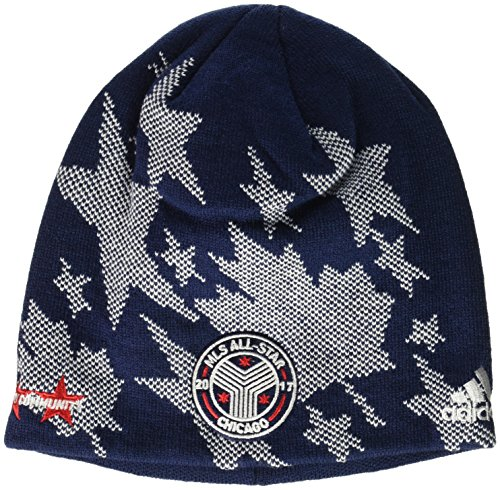 adidas MLS All Star Adult Men MLS All Star Beanie, One Size, Blue -