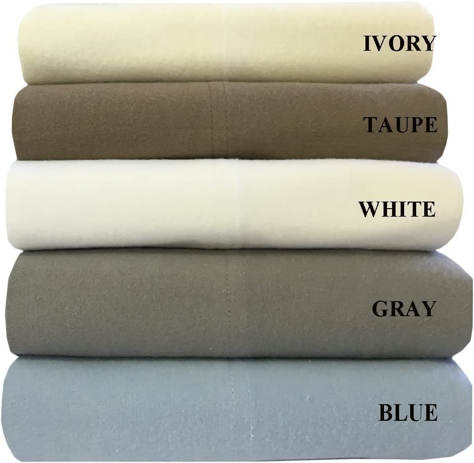 Amazon Com Royal Traditions King Gray Cotton Flannel Sheets 100 Percent Heavyweight Cotton Flannel 4pc Bed Sheet Set Deep Pocket Thick Heavy And Ultra Soft Home Kitchen