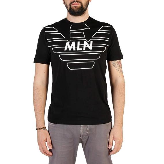 Emporio Sleeve Neckline Short Armani Crew T Men's Shirt Black Jumper Er0qrxCwt