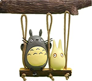 Kimkoala Cute Swing Figures Figurines Japanese Anime Statue Models Dolls Toy for DIY Micro Landscape Fairy Garden Decorations