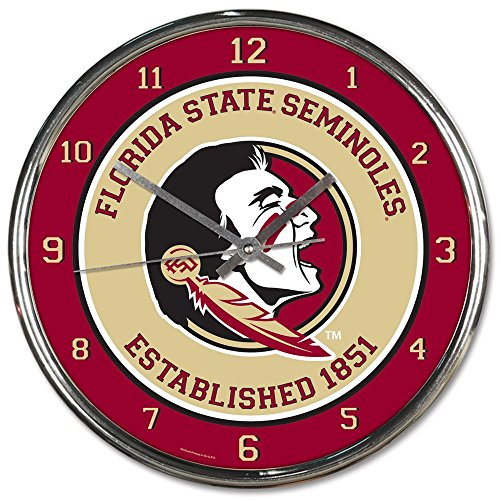 Florida State Seminoles Wall Clock (Florida State Seminoles NCAA 12 Inch Round Chrome Plated Wall Clock)