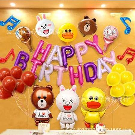 Cumpleaños de los niños papel de aluminio conjunto de globos ...