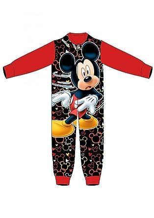 ed5be5580627 Mickey Mouse New Boys Fleece Onesie Sleepsuit Pyjamas Size 18-24