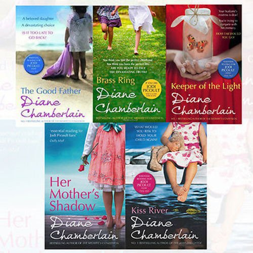 Diane Chamberlain Collection 5 Books Bundle (The Good Father, Brass Ring, Her Mother's Shadow, Keeper of the Light, Kiss River)