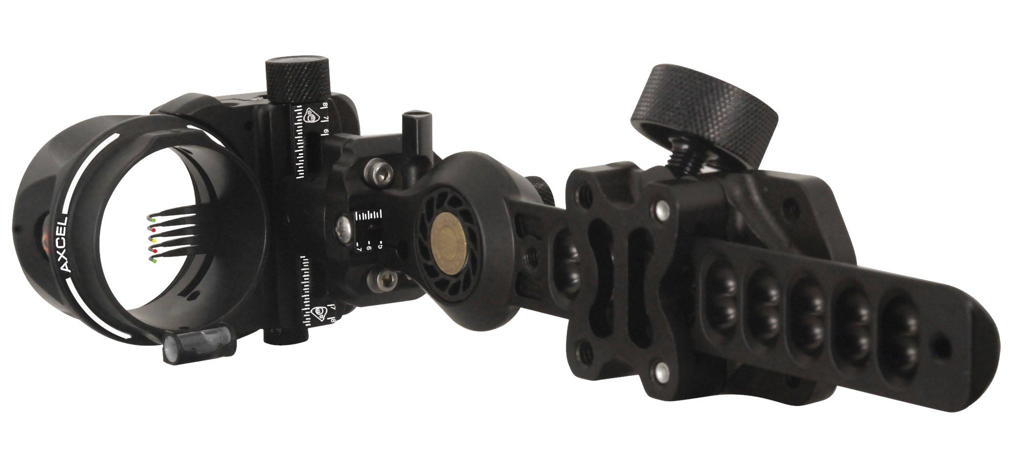 Axcel 5 Pin .019 Fiber Armortech HD PRO Hunting Sight (Black)