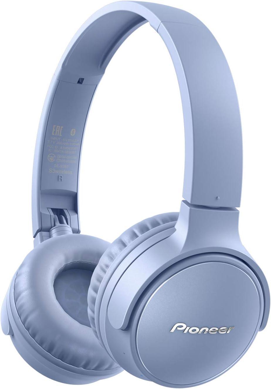 Pioneer S3wireless SE-S3BT audífonos Bluetooth 5.0, Tipo Sellado hasta 25 Horas de Uso [Importado de Japón] Azul