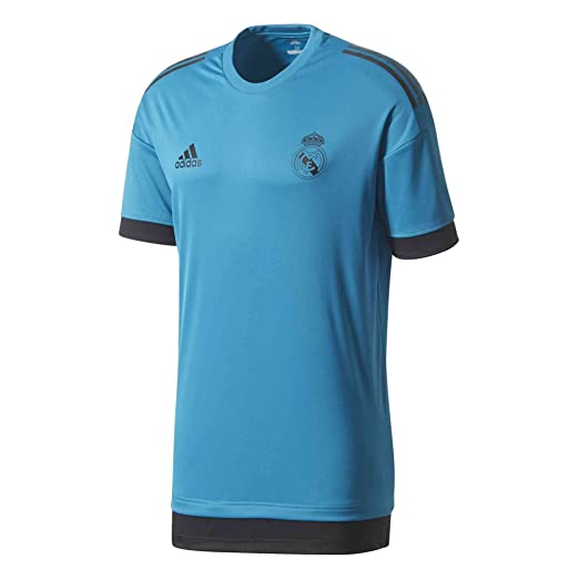5d21a1cccc0 adidas Men's Real Madrid UCL Training Jersey (Small) Vivid Teal / Black