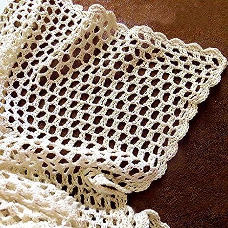 tidetex algodón hecho a mano Hollow Out Funda para mesa mantel cuadrado Simple Retro de encaje crochet sofá Mat cubierta Toalla multiusos Decor blondas mesa ...