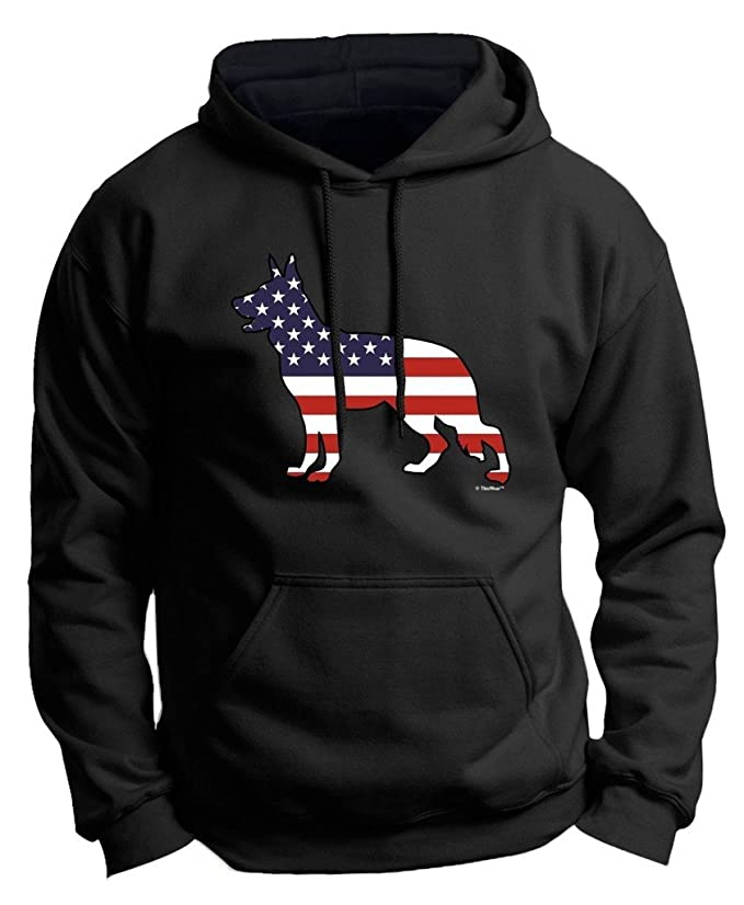 ThisWear Patriotic Dog Gift German Shepherd American Flag Premium Hoodie Sweatshirt