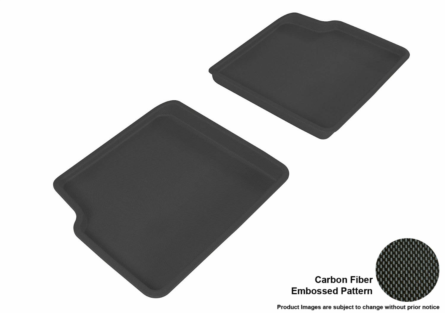 Kagu Rubber 3D MAXpider Second Row Custom Fit All-Weather Floor Mat for Select Chevrolet HHR Models Tan