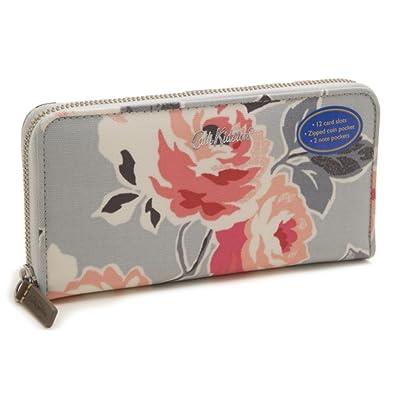 1cf1909dc3d7 Cath Kidston ラウンドファスナー 長財布 734363 Continental Zip Wallet レディース Dove Grey  Paper Rose グレー