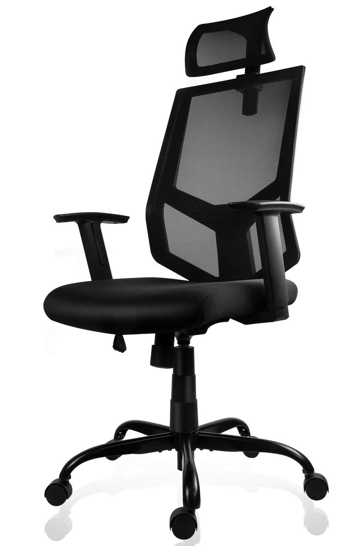 Ergonomic Office Chair Adjustable Headrest Mesh Office Chair Office Desk Chair Computer Task Chair by SMUGDESK