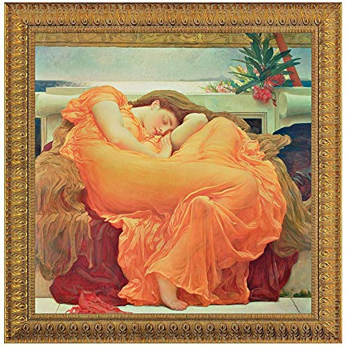 Flaming June Painting - Design Toscano Flaming June, 1895, Canvas Replica Painting: Small