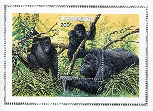 Rwanda Stamps: 1 Stamp Minisheet, 1981, Gorillas, MNH