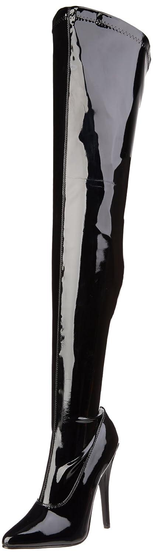 Pleaser DOMINA-3000 - Botas para mujer (por encima de la rodilla)42 EU|Negro