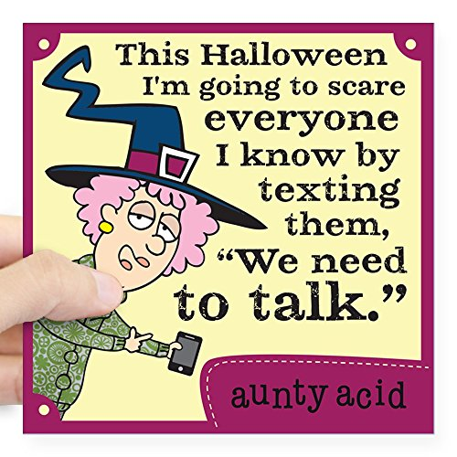 CafePress Aunty Acid: Halloween Text Square Sticker 3