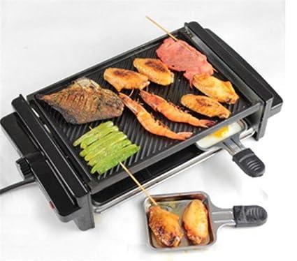 BBQ Korean Home Electric Barbecue Stove Comercial Smokeless Barbacoa Máquina de dos niveles Barbecue Pot Parrilla