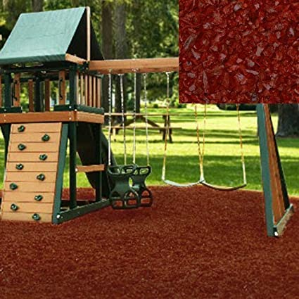 Amazon Com Kidwise Swing Set Playground Rubber Mulch 75 Cu Ft
